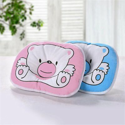 Bear Pattern Pillow Newborn Infant Baby Support Cushion Pad Prevent Flat Head NY