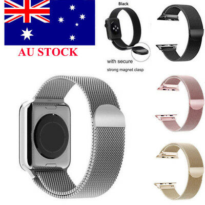 For Apple Watch Series 3 2 1 Magnetic Milanese Stainless Steel Watch Band Strap