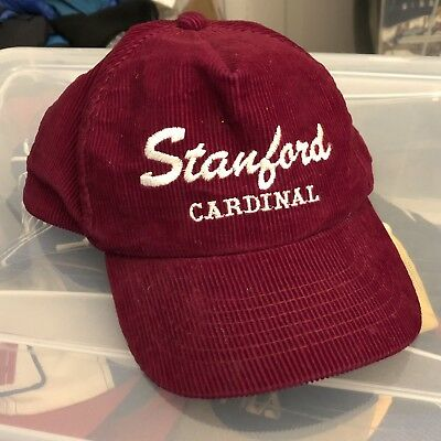 0c47542518d ... official vintage stanford university cardinal mens corduroy hat  adjustable euc b5cc7 5ab61