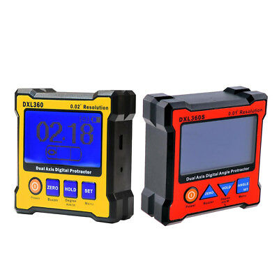 DXL360+ DXL360S Dual Axis Digital Protractor LCD Protractor Inclinometer/2pc