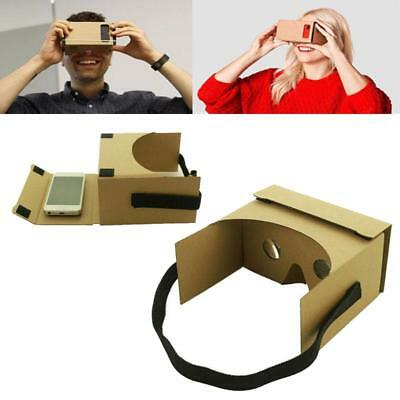 Head-mounted Cardboard 3D VR Virtual Reality Glasses For iPhone Google Nexus