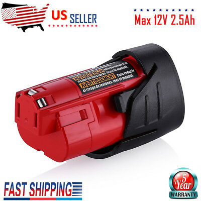 Replace For Milwaukee 48-11-2401 M12 48-11-2402 12V 2.5Ah Lithium Battery M12B6