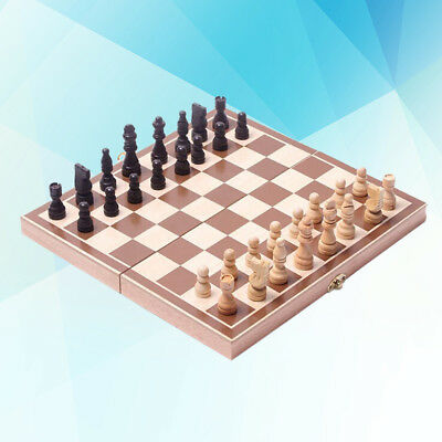 Large 3 in 1 Folding Chess Set Box Chessboard Board Magnetic Portable Wood Game