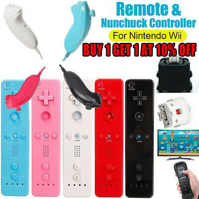 Remote Nunchuck Controller + Silicone case +Motion Plus Adapter for Nintendo Wii