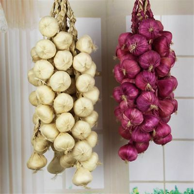Photography Props Artificial Garlic Onion Simulation Vegetable Hanging Faux Food