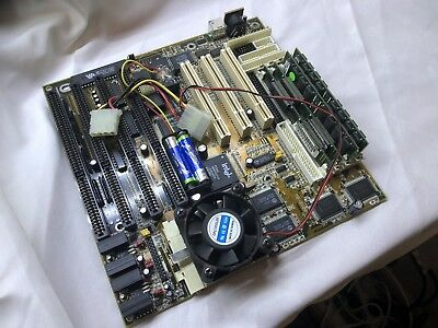 Biostar Mb-8500tvx-a Socket 7 Motherboard With Cpu And Ram