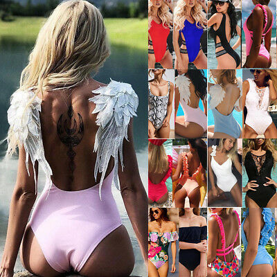 Women One-piece Swimsuit Swimwear Push Up Monokini Bathing Bikini Beachwear Lot