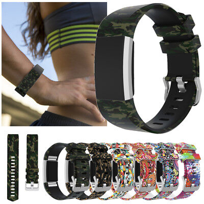 Replacement Silicone Sports Watch Band Strap Bracelet Loop For FitBit Charge 2