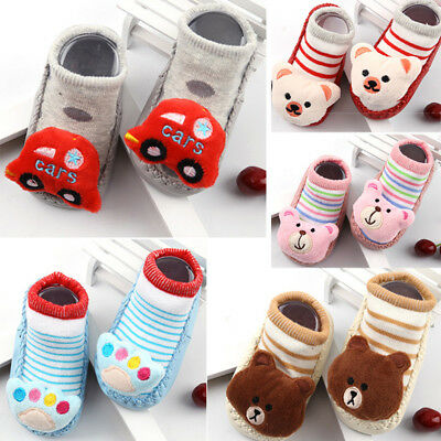 Anti-skid Socks Cotton Children Floor Kids Lovely Baby Walking Thick Fashion