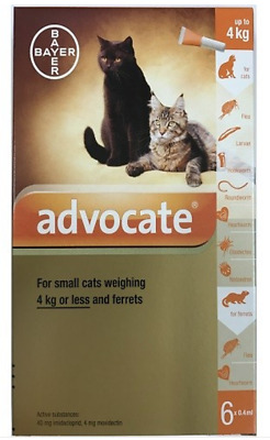 Advocate For Small Cats under 4kg (8.8lbs), 6 Pack