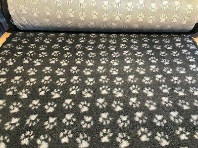 Charcoal With Grey Paws  Vet Bed Dog Puppy Whelping Fleece 7 Sizes Non Slip Back