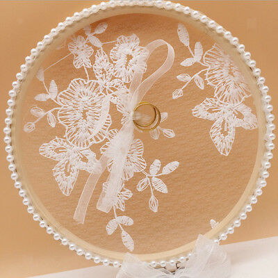 Elegant Wedding Ring Pillow Pearl Ring Display Holder Container 17cm