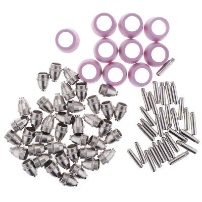 80 Pcs Air Plasma Cutter Electrodes Torch Tips Nozzle Consumables 50A/60A
