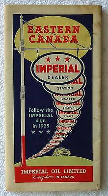 1935 Imperial Oil Limited Highway Travel Road Map Eastern Canada #49