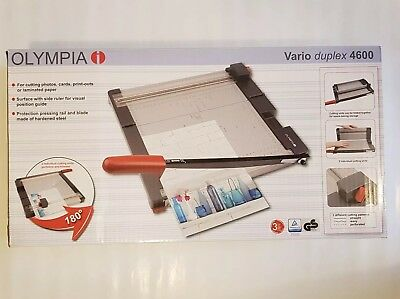 Guillotine and Trimmer Olympia i Vario Duplex 4600 180 Degree manual included