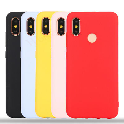 Matte Skin Candy Color Silicone TPU Case Cover For Xiaomi Mi A1 A2 Lite Note 5 7