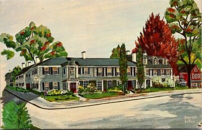 Postcard Massachusetts Concord Colonial Inn 1716 Bamford M. Sawler Painting H-6