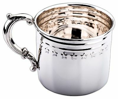 Stars & Stripes Sterling Silver Baby Cup by Empire. Made in the USA. NIB