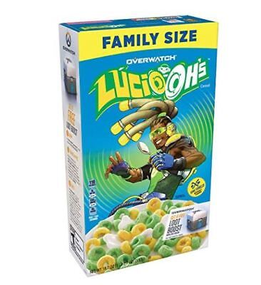 Kellogg's Lucio Oh's Blizzard Overwatch Family Size Cereal NEW 18.7 Ounce Box