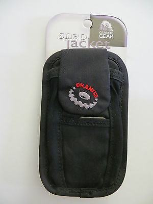 Granite Gear Snap Jacket black mp3 player earbud holder case medium size