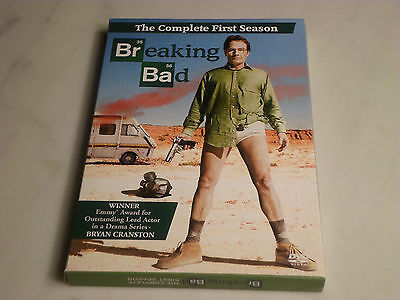 Vince Gilligan's BREAKING BAD Complete 1/1st/One/First Season DVD/3 disc box set