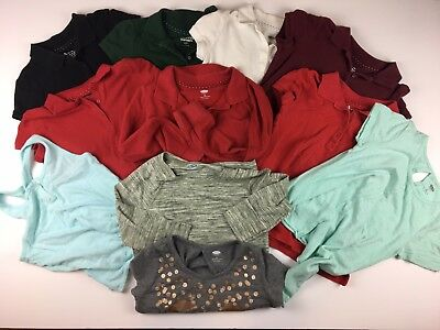 Old Navy 11-Piece Girls Kids Lot Shirts Polos Tank Tops Pullover Size 8 Medium M