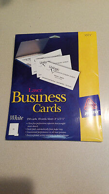 Avery 5371 Business Cards Laser Business Cards 2 X 3 12 White
