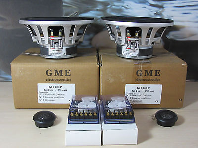 Gme Electroacoustic Top Car Audio Kit 200 P. Made In Italy. Pro 8300 Cg Woofer.