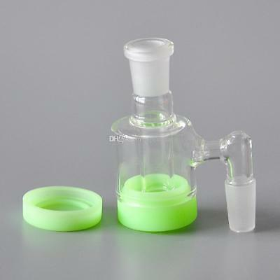 Glass Reclaim Collector Catcher 14mm Male - Adapter ConnectorNeon Silicone