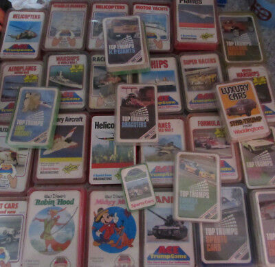 Various 1980/90'S Ace Trumps, Top-Trumps, Quartet Card Games