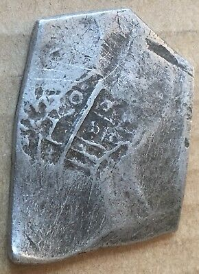 1600s Spanish Spain 8 Reales Real Cob Silver Coin Colonial Treasure Coin 26.50 g