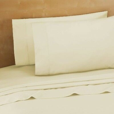 Bed Bath & Beyond 220-Thread-Count 100% Cotton King Pillowcases in Ivory (Set...