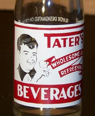 Tater's ACL Painted Label Soda Pop Bottle