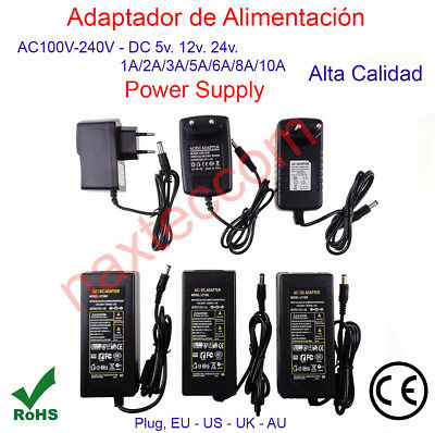 Transformador Alimentador DC5v. 12v. 24v. - 1A,/2A/3A/5A/6A/8A/10A Power Supply
