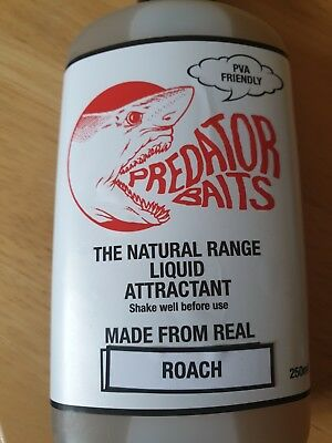 Predator Baits Roach Flavour  Oil , Pva Friendly / Pike Fishing