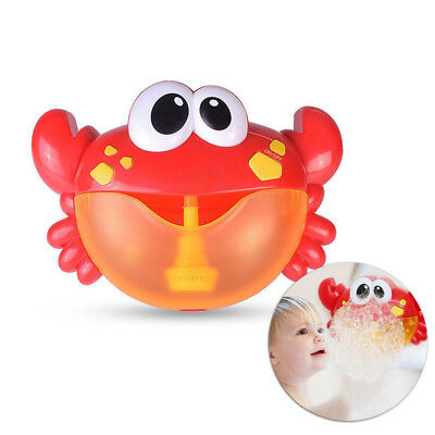 Crab Bubble Maker Automated Spout Bubble Machine Bath Shower Kids Toys