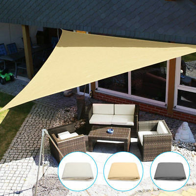 Sun Shade Triangle Sail Water Resistant Canopy Patio Awning Garden UV Block 3m