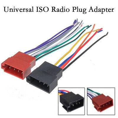 Universal Auto Car Stereo ISO Radio Adapter Cable Female Wire Harness Accessory