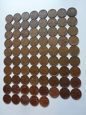 Collection 1 Cent 1937-2012 Canada... Lot 77 Coins...
