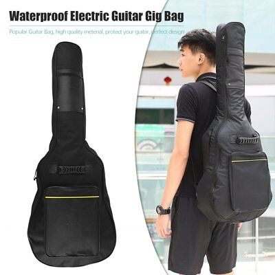 """41"""" Acoustic Guitar Double Straps Padded Guitar Soft Case Gig Bag Backpack RRO"""