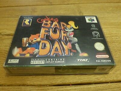 Conker's Bad Fur Day Nintendo N64 Complete Boxed Game Uk Pal