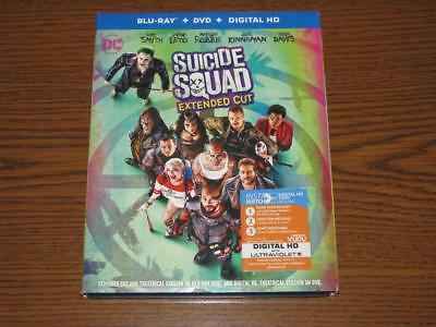 Suicide Squad (Blu-ray/DVD, Extended Cut, 3-Disc Set)  with Slip Cover