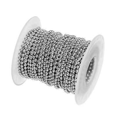 10Yard/Roll Women's Silver Stainless Steel Bead Ball Chain Necklace 1.5/2/2.5mm