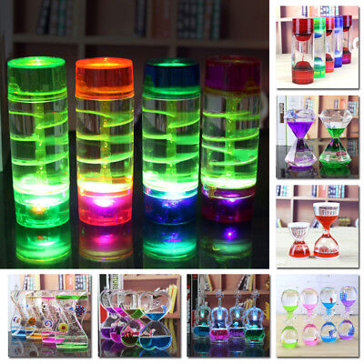 Liquid Motion Bubble Timer Floating Color Oil Hourglass Mix Illusion