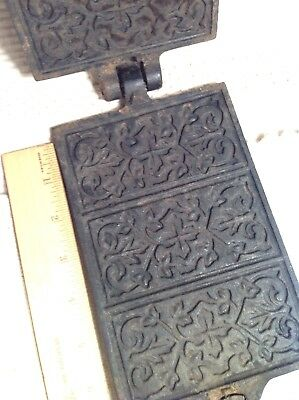 Jotul Cast Iron Antique Waffle French Cookie Press  pizzelle krumkokie Norway