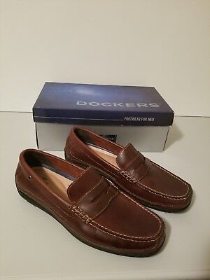 f07b321a6ca Dockers Mens Voyager Genuine Leather Business Dress Penny Slip-on Loafer  Shoe