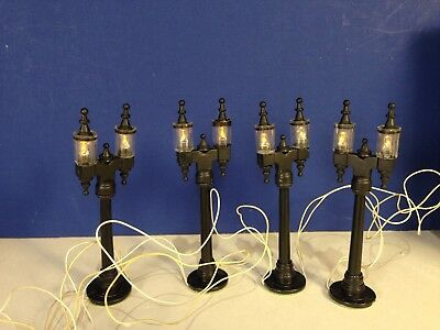 Dept 56 Heritage VILLAGE DOUBLE STREET LAMPS w/ box Combine Shipping!