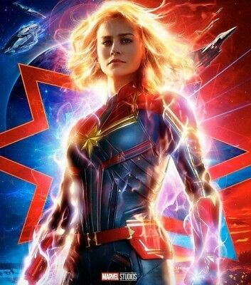 MINT Captain Marvel 27x40 Original Movie Poster DS ENDGAME BRIE LARSON GOOSE +4