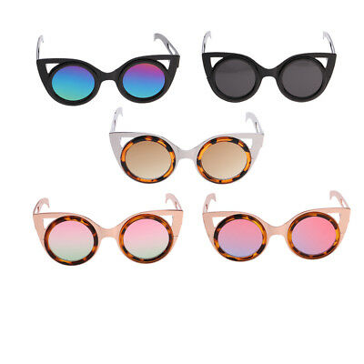 Fashion Oversize Cat Eye Metal Frame Sunglasses for Blythe Pullip Doll Outfit