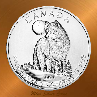 2011 Canadian TIMBER WOLF ~ Wild Life Series ~ 1 oz. 9999 Pure Silver ... #2